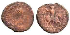 nummus of Honorius (AD 393-423), ©British Museum