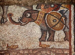 Image from the Huqoq mosaic - courtesy of Jodi Magness