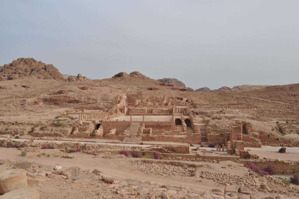The Nabataean Civic Centre at Petra. Photo Copyright D.F. Graf, 2013.